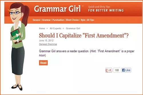 سایت Grammar Girl